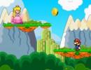 マリオを飛ばしてピーチ姫の元へ向かうゲーム マリオ プリンセスキス