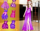 着せ替えゲーム ファッション パープルドレス