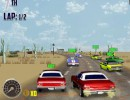 アメリカの市街地を横断するカーレーシングゲーム V8マッスルカーズ