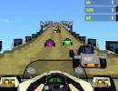 空中道路の本格カーレースゲーム コースターレーサー