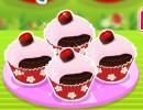 料理ゲーム チョコレートチェリーカップケーキ