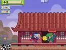 屋敷に侵入してくる敵を倒していく忍者アクションゲーム ジッピーニンジャ