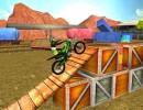 障害物を乗り越えて進む3Dモトクロスバイクゲーム トライアルズゴールド3D