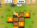 ブルドーザーを操作して木材を移動させるパズルゲーム スーパードーザー
