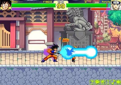 ドラゴンボールとNARUTOのキャラが戦う格闘ゲーム DBZvsNARUTO