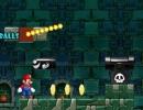 マリオの横スクロールアクションゲーム CG マリオ ニューレベル