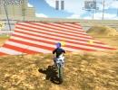 コインを集めてトリックを決めていく3Dバイクゲーム モトクロスバイク フリースタイル