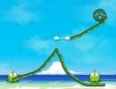水を流してカエルに水を与えていくゲーム フロッグ ドリンク ウォーター 2