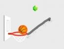 線を引いてバスケットボールをゴールに誘導するゲーム ダンク ライン 2