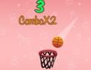 ゴールを動かしてボールをゴールに入れるゲーム バスケットボール チャレンジ