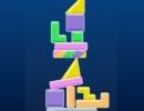 色々な形のブロックを落として高く積み上げていくゲーム ジオメトリー タワー