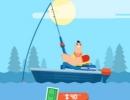 魚を釣って竿や銃をアップグレードしていく釣りゲーム ゴーン フィッシング