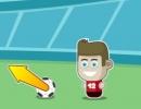 サッカーボールをゴールにシュートしていくゲーム フットスター