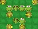 カエルを消して連鎖させていくパズルゲーム フロッグ ラッシュ