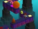 追っかけてくる岩や障害物を避けていくミニゲーム ピクセル エスケープ