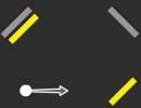 ボールを飛ばして黄色いブロックを壊すパズルゲーム イエロー ラインズ