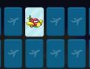 飛行機の絵で神経衰弱をするゲーム エアープラン メモリー