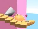 にゃんこが障害物を避けて階段を登っていくミニゲーム スパイラル ステアーズ
