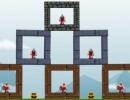 大砲で砦を崩して敵を倒していくゲーム キャッスル シージ