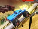 モンスタートラックでコースを進む3Dカーゲーム エクストリーム モンスタートラック