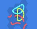 パネルを入れ替えて図形を完成させるパズルゲーム Knot