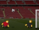キャラを引っ張ってボールを蹴るサッカーゲーム スモール ワールドカップ
