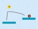 線を描いて食べ物の所へ誘導するパズルゲーム ハングリー ライン フィジック