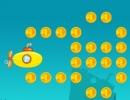 コインをゲットして進んでいく潜水艦ゲーム サブマリン ハッピーダイブ
