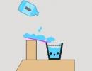 線を引いてグラスに水を誘導させるゲーム Happy Cub