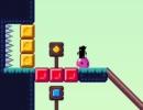 スイッチを押して仕掛けを解いて進むパズルゲーム スライムライダー
